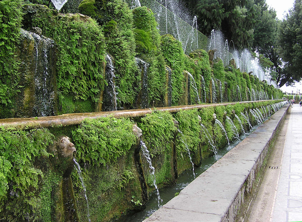 Avenue of One Hundred Fountains, Villa d'Este, Tivoli Gardens, Italy | Tour Italy Now