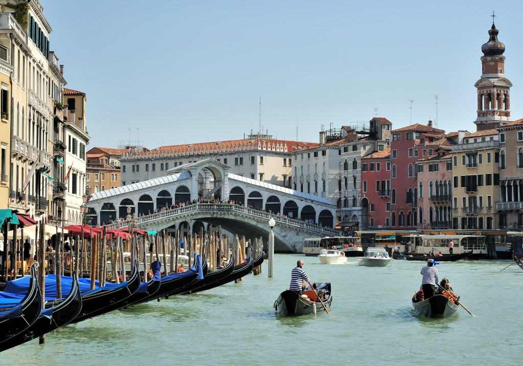 Grand Canal Rialto Bridge Venice Italy
